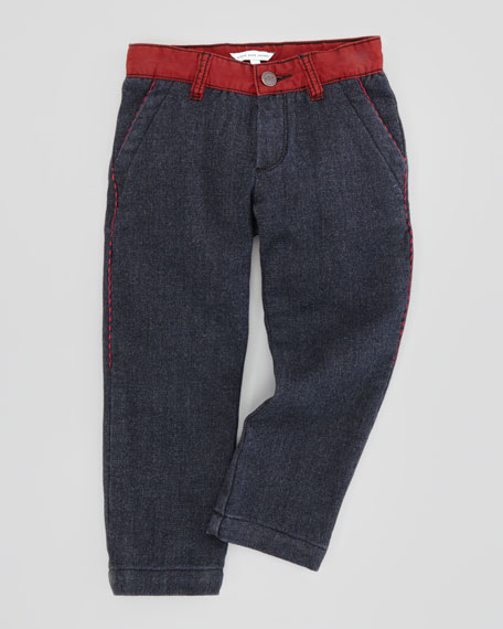 Boy's Fleece-Feel Denim Pants, Sizes 6Y-10Y