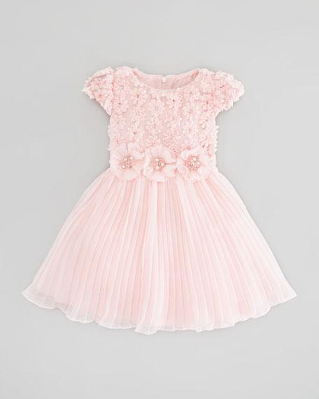 Floral-Chiffon Dress, Pink, Sizes 2-10Y