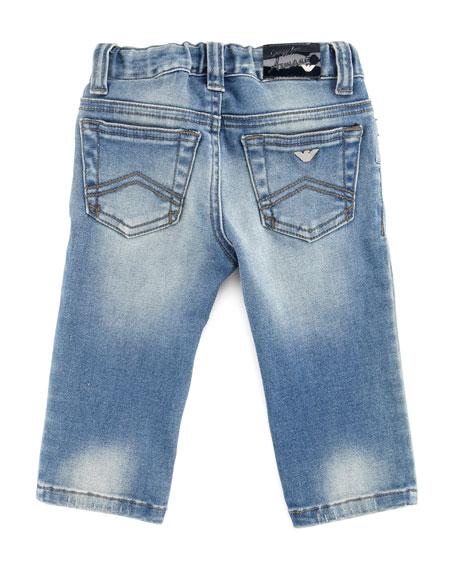 Blue Stone-Wash Denim Jeans, 3-24 Months
