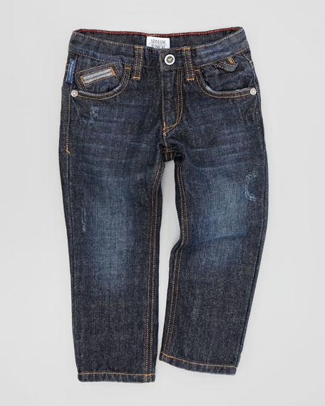 Dark Wash Denim Jeans, Sizes 2Y-8Y