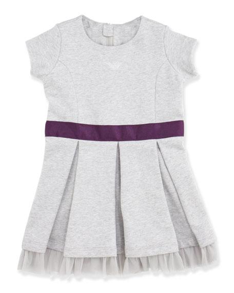 Stretch Fleece Dress, Dove Gray, 2Y-8Y