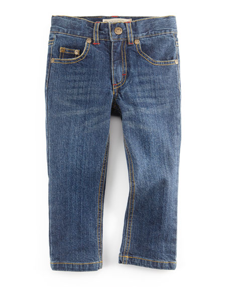 Straight-Leg Denim Jeans,  Dark Wash