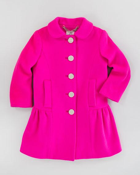 Zoey Peplum Coat, Shock Pink, Sizes 8-10