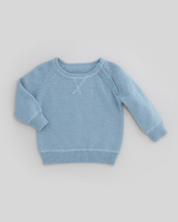 Marie Chantal Baby Godfrey Knit Jumper, Blue