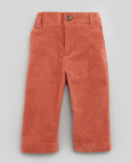 Marie Chantal Baby Corduroy Pants, Rust, 6-24 Months