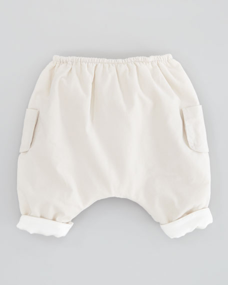 Pocket Corduroy Trousers, Off White, 6-24 Months