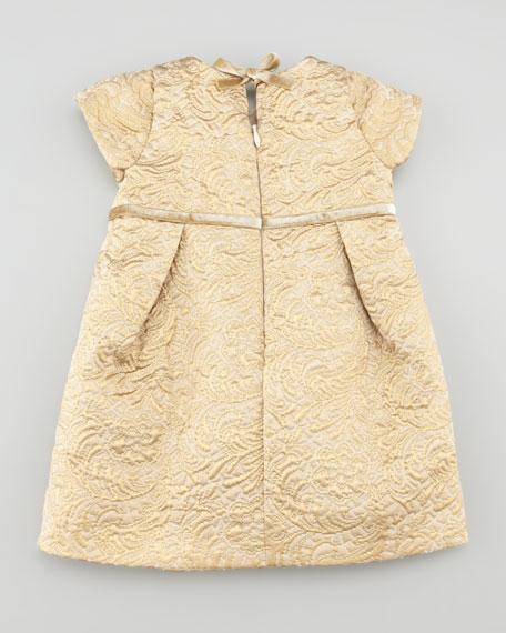 Metallic Jacquard Dress, Gold, 6-24 Months