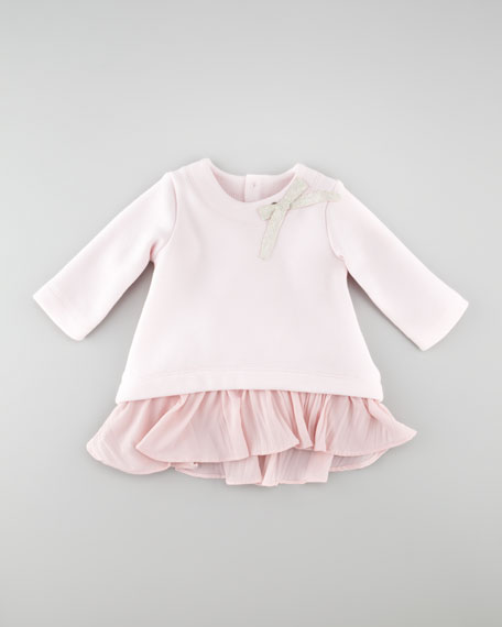 Dropped Waist Long-Sleeve Dress, Rose Pale, 3-18 Months