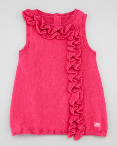 Ribbon Sleeveless Dress, Azalee/Red, 3-18 Months