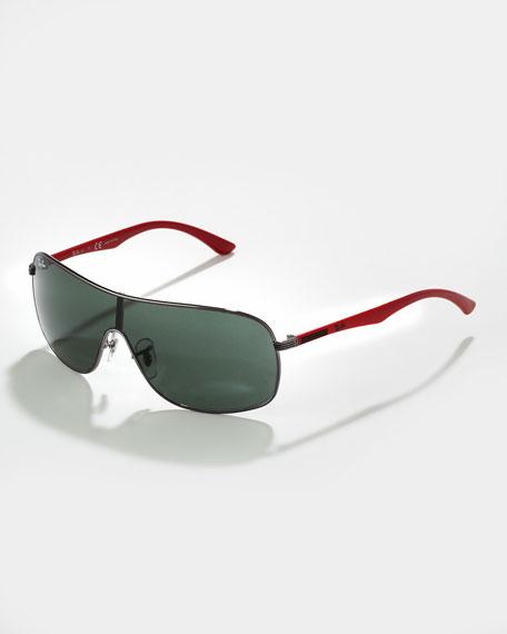 Kids' Oversized Metal Shield Sunglasses
