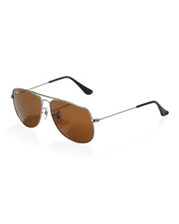 Ray-Ban Kids' Aviator Sunglasses, Gunmetal