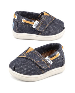 TOMS Tiny Denim Bimini Shoe, Navy