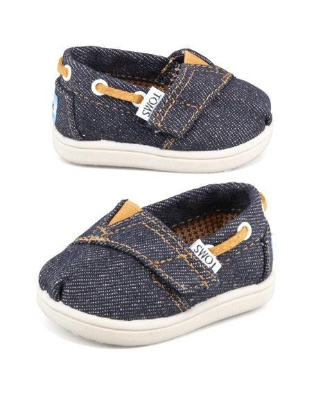 Tiny Denim Bimini Shoe, Navy