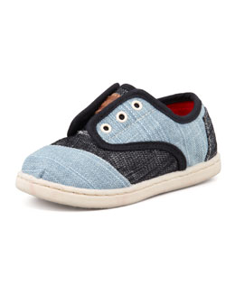 TOMS Tiny Two-Tone Denim Cordones Shoe