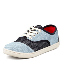 TOMS Youth Colorblock Denim Cardones Shoes