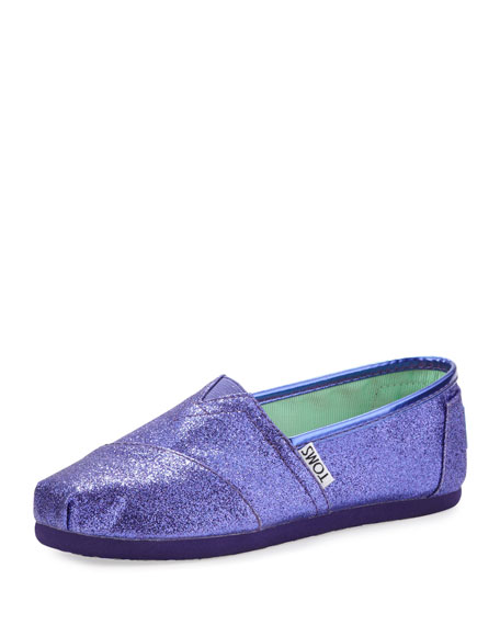 Purple Glitter Slip-On Shoe, Youth
