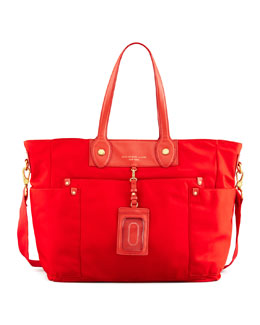 MARC by Marc Jacobs Pretty Nylon Eliz-A-Baby Diaper Bag, Blaze Red