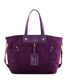 MARC by Marc Jacobs Preppy Nylon Eliz-A-Baby Diaper Bag, Pansy Purple