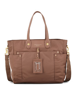 MARC by Marc Jacobs Preppy Nylon Eliz-A-Baby Diaper Bag, Rootbeer