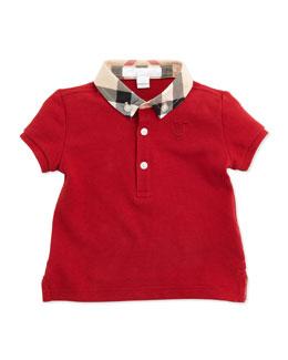 Burberry Mini Pique Polo Shirt, Red