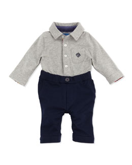 Andy & Evan Baby's First Andy & Evan Shirtzie, Gray/Navy