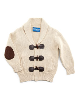 Andy & Evan Knit Toggle-Front Cardigan, Oatmeal