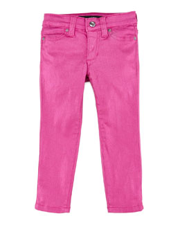 Joe's Jeans Girl's Stretch Glitter Denim Leggings, Wild Orchid, Sizes 8-10
