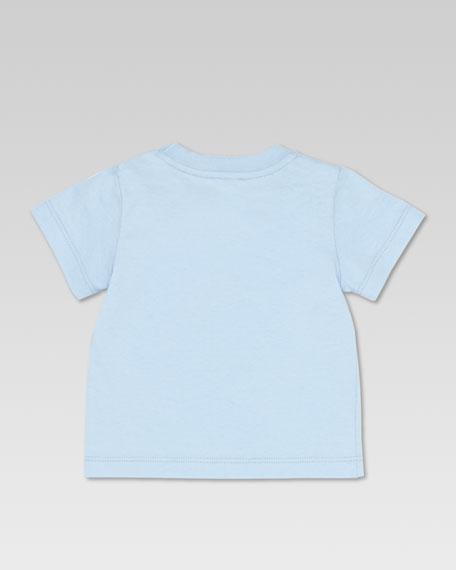 GG Tennis-Print Tee, Sky/White