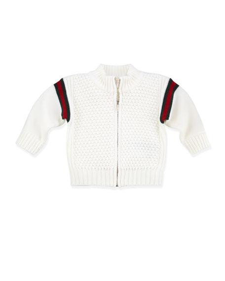 Web Zip-Front Jacket, White
