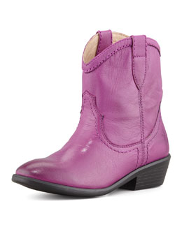 Frye Carson Shortie Leather Boot, Berry