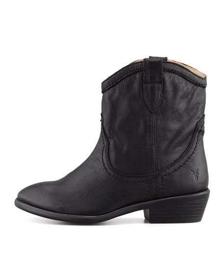 Carson Shortie Leather Boot, Black