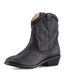 Frye Carson Shortie Leather Boot, Black