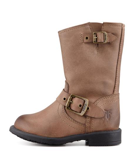 Engineer Double-Buckle Boot, Gaucho