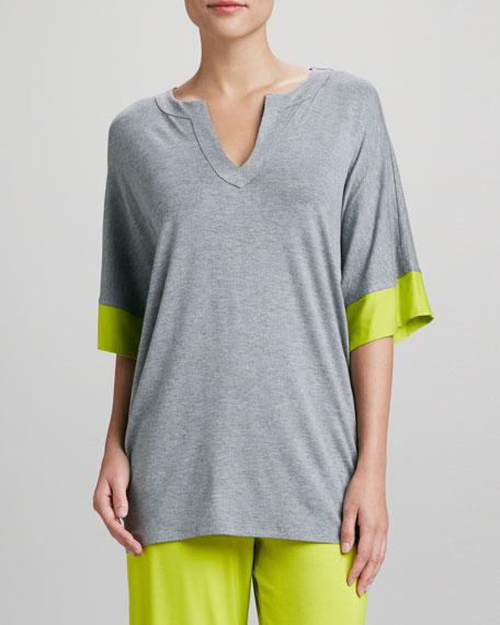 Maricar Pajama Top, Light Heather Gray