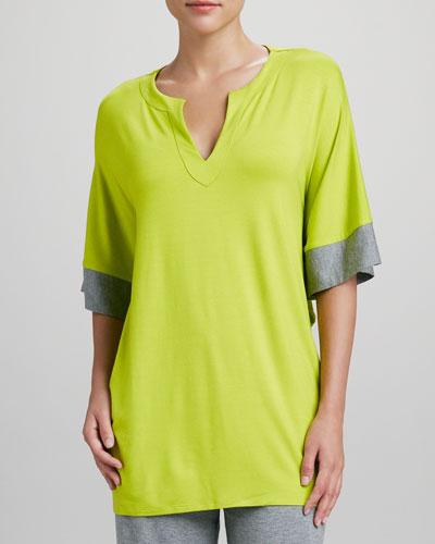 Natori Maricar Pajama Top, Lime
