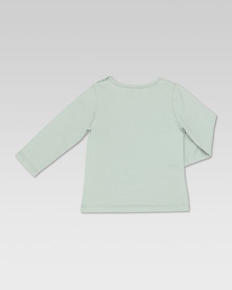 Long-Sleeve GG Ski-Print Tee, Ice Mint