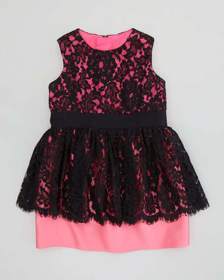Lace Peplum Dress, Sizes 8-10