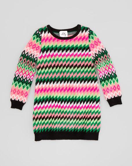 Fair Isle Knit Dress, Sizes 8-10