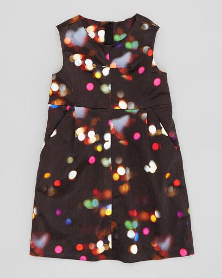 City Lights Print Sleeveless Dress, Sizes 2-6
