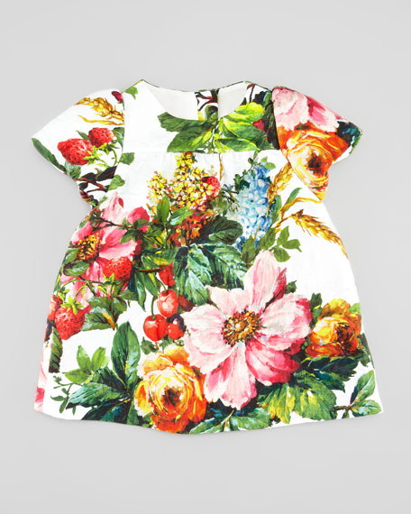 Short-Sleeve Floral Dress, 3-18 Months