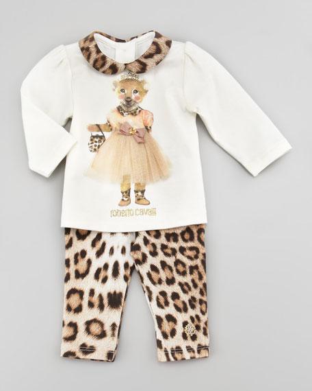 Leopard-Print Jersey Leggings, 3-9 Months