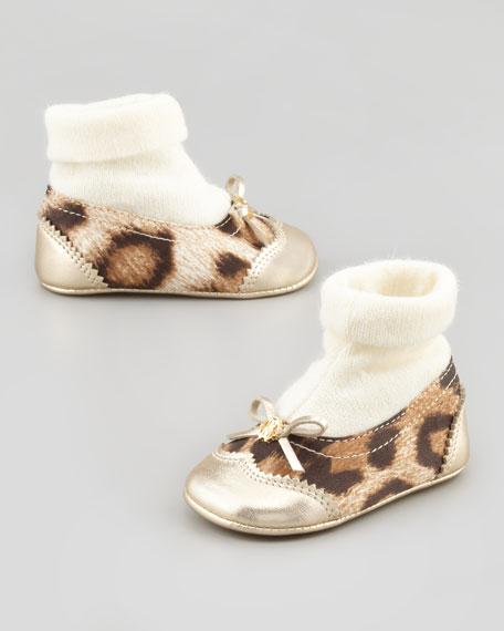 Baby Leopard-Print Shoe Booties