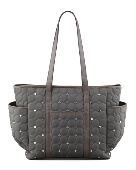 Marissa Quilted Diaper Bag, Gray
