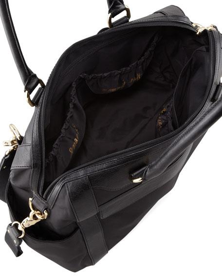 Knocked Up Nylon Diaper Bag, Black