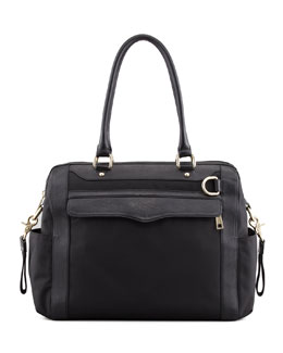 Rebecca Minkoff Knocked Up Nylon Diaper Bag, Black
