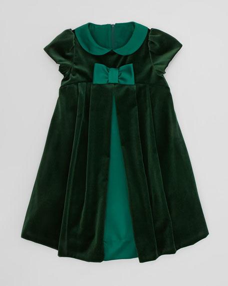 Velvet Bow Dress, Sizes 4-6X