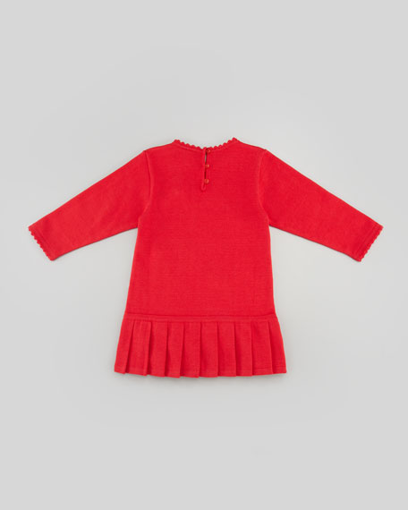 Holly Striped Drop-Waist Dress, Red, 3-9 Months