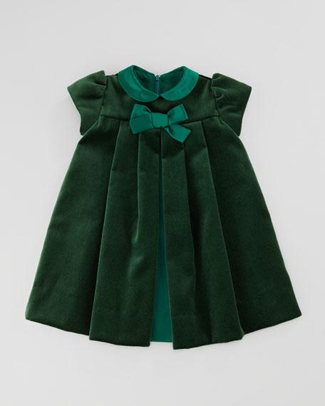 Velvet Bow Dress, 12-24 Months