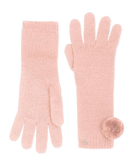 Knit Pom Pom Gloves