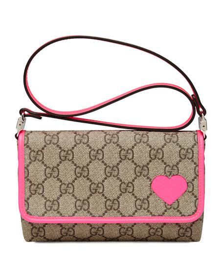 GG Plus Canvas Shoulder Bag, Hot Pink